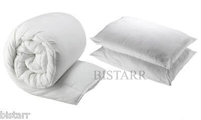 Duvet Quilt And 2 Pillows - Single Double King - 4.5, 10.5, 13.5, 15 Tog