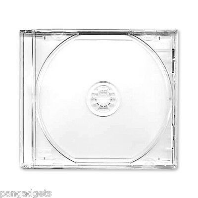 CD Single Jewel Cases With Clear Tray Pack of 10