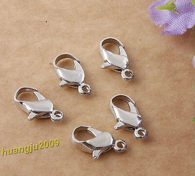 Wholesale Lot 500 Pcs Available Free Nickel Lobster Clasps Free Shipping 12mm