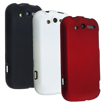 Snap-On Rubber Hard Case Cover For T-Mobile HTC myTouch 4G Black/White/Red