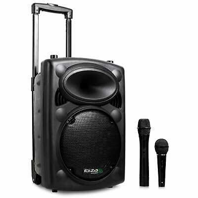 Tragbare Dj Karaoke Party Musik Anlage 20Cm Subwoofer Box Bluetooth  Usb Sd Mp3