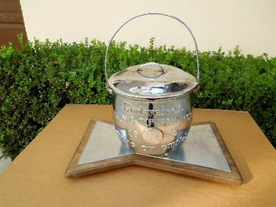 Scarce 1978 Budweiser Chili Cook Off Trophy Pot / Kettle