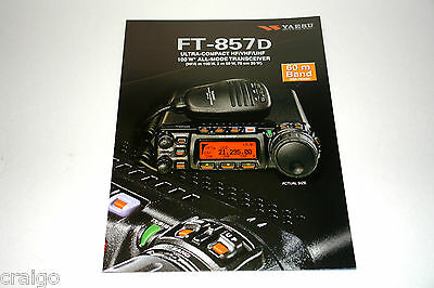 Yaesu  FT-857D  HF/50Mhz UltraCompact Transceiver Advertising Brochure