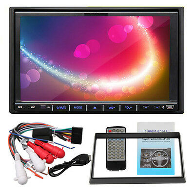 "7"" HD LCD 2 Din Car Radio DVD Player AM/FM Steering Wheel Control USB SD Port"