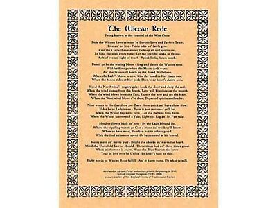 Wiccan Rede parchment sheet - Wicca, pagan, witch
