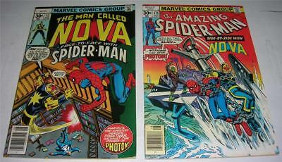 NOVA #12 & AMAZING SPIDER-MAN #171 (Marvel 1977) Complete Crossover Story! (FN)