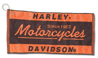 Harley Davidson Motorcycles Bar Towel Metal Grommet For Hanging
