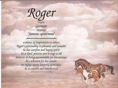 Personalized Name Meaning Horse Lovers Western Home Decor, Ranch Farmhouse Decor