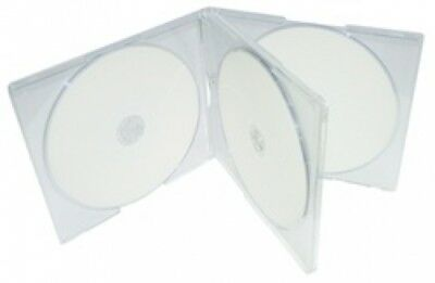 100 STANDARD Clear Quad 4 Disc CD Jewel Case