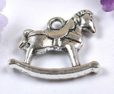 Wholesale lots 10pcs Tibetan Silver Cockhorse Charm Pendants 17X16MM SH2042