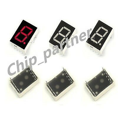"10pcs Red 7 Segment 0.5"" LED Display Digital Tube Common Cathode 1 Bit Digitron"