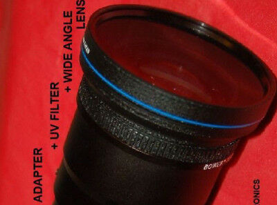 0.43x WIDE ANGLE LENS + UV FILTER+ ADAPTER TUBE 67mm for NIKON L310 COOLPIX NEW