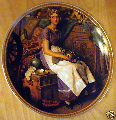 1981 Knowles Collectors Plate Norman Rockwell Dreaming In The Attic