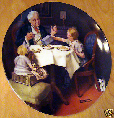 1984 Knowles Collectors Plate Norman Rockwell The Gourmet