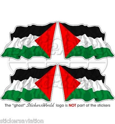 "PALESTINE Flying Flag, Palestinian State 50mm (2"") Vinyl Stickers, Decals x4"