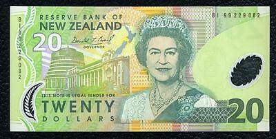 New Zealand P-179b(19)99 Polymere Plastic 20 Dollars Almost Uncirculated