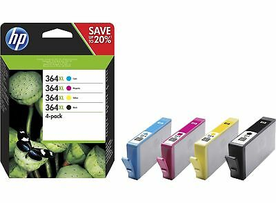 4x HP 364 XL ORIGINAL TINTE PATRONEN DESKJET 3070A 3520 3522 OFFICEJET 4620 4622