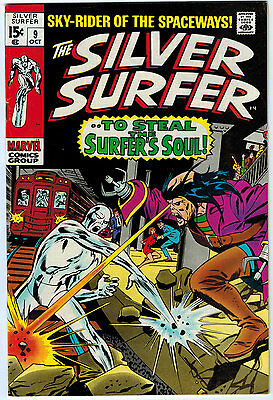 Silver Surfer #9 7.0 White Pages Silver Age
