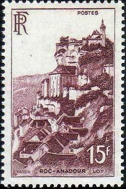 """France Timbre Stamp N°763 """"Rocamadour 15F"""" Neuf Xx Ttb"""