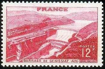"France Timbre Stamp N°817 ""Barrage De Genissiat"" Neuf Xx Ttb"