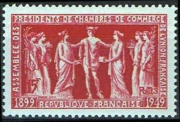 "France Timbre Stamp N°849 ""Presidents De Chambres De Commerce"" Neuf Xx Ttb"