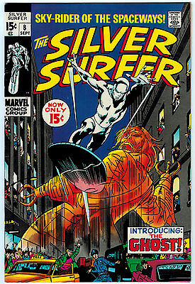 Silver Surfer #8 7.5 Off-White Pages Silver Age