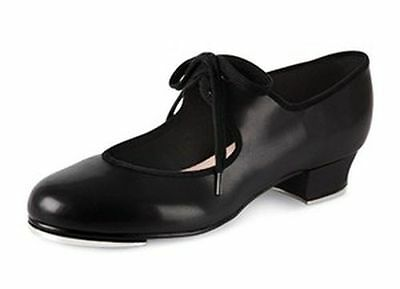 bloch 330 timestep pu low heel tap shoes black heel and toe taps  adult size