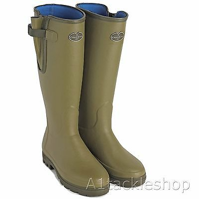 Le Chameau Green Vierzonord Neoprene Lined Insulated Wellington Boots Wellies
