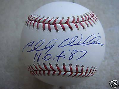 BILLY WILLIAMS CHICAGO CUBS HOF 87 OFFICIAL SIGNED BALL