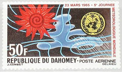 DAHOMEY 1965 246 C25 5th World Meteorological Day Tag der Meteorologie Space MNH