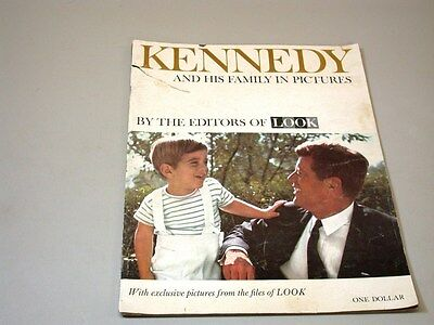 Vintage LOOK 1963 ~ John Fitzgerald Kennedy JFK & His Family Pictorial Edition