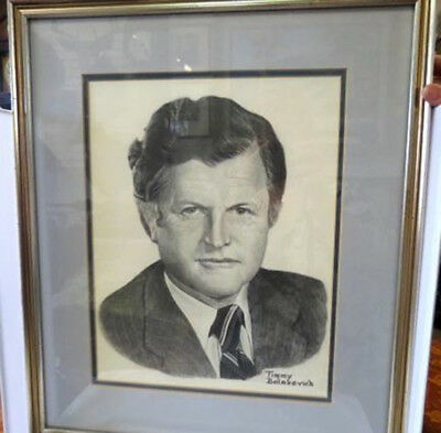 Ted Kennedy Pencil Drawing Of By Timmy Bolasevich