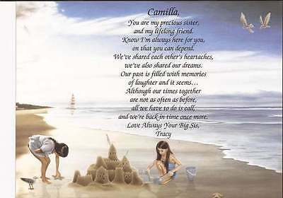 "Personalized Poem for Sister ""You Are My Precious Sister"" Meaningful Gift"