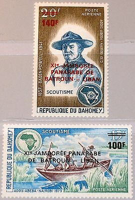DAHOMEY 1974 572-73 C217-18 11th Pan Arab Jamboree Pfadfinder Boy Scouts ovp MNH