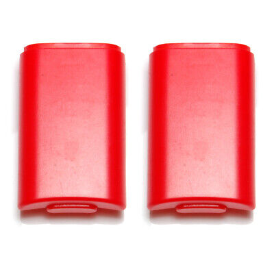 Battery cover for Xbox 360 controller holder case shell ZedLabz – 2 pack red