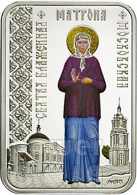 MATRONA OF MOSCOW Saints Cities Russian Orthodox Church Silver Coin 1$ Niue 2012