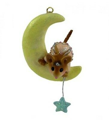 MY LITTLE STAR Mouse Ornament by Wee Forest Folk, WFF# CO-9, PINK