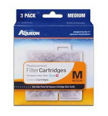 Aqueon Filter Cartridge Medium. For Quiet Flow 10 Filter. 3Pk