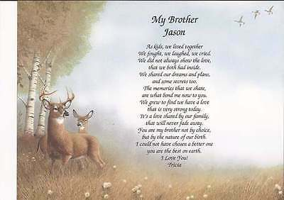 Personalized Poem for Brother Choose Art  Birthday Christmas Father's Day Gift