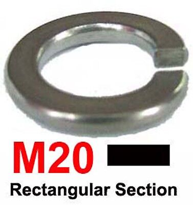 M20 Stainless Steel Spring Washers (Rectangular Section) x10