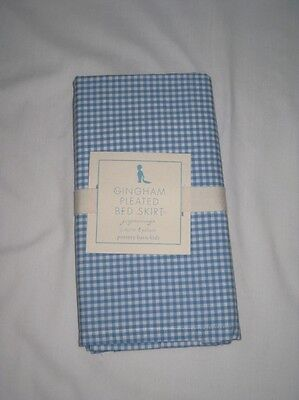 pottery barn kids eric carle blue gingham crib bed skirt • $26.99
