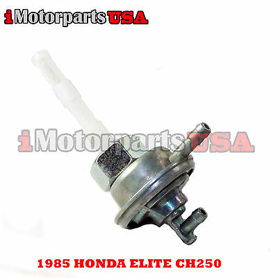 1985 Honda Elite Ch250 Ch 250 Scooter Moped Petcock Assembly Auto Fuel Pump New