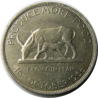 elf Uganda 5 Shillings 1968  FAO Cow