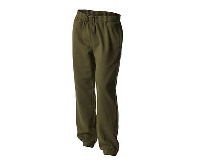 Trakker NEW Carp Fishing Joggers Green Fleece Jogging Bottoms *All Sizes*