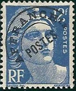 """FRANCE PREOBLITERE TIMBRE STAMP N°103 """"TYPE MARIANNE 12F OUTREMER """" NEUF (x) TB"""