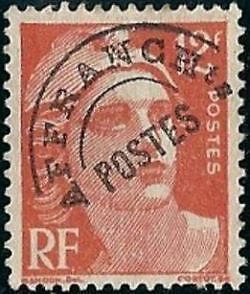"""FRANCE PREOBLITERE TIMBRE STAMP N°103A """"TYPE MARIANNE 12F ROUGE"""" NEUF (x) TB"""