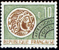 "FRANCE PREOBLITERE TIMBRE STAMP N°123 "" MONNAIE GAULOISE 10c "" NEUF (x) TB"