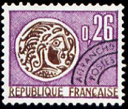 "FRANCE PREOBLITERE TIMBRE STAMP N°130 "" MONNAIE GAULOISE 26c "" NEUF (x) TB"