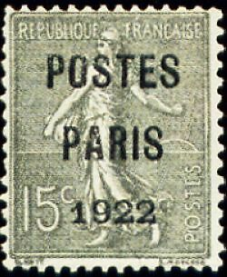 """FRANCE PREOBLITERE TIMBRE STAMP N°31 """"TYPE SEMEUSE, SURCHARGE 15C"""" NEUF x TB"""