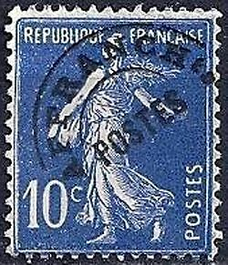 """FRANCE PREOBLITERE TIMBRE STAMP N°52 """"TYPE SEMEUSE 10C"""" NEUF x TB"""